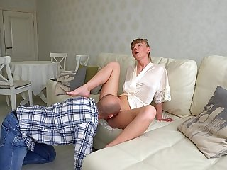 I worship, kiss be imparted to murder foots be useful to my Mistress, lick pussy and swallow her squirt