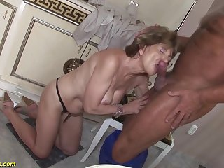 Hairy 70 time ancient mom anal sex with a boyfriend