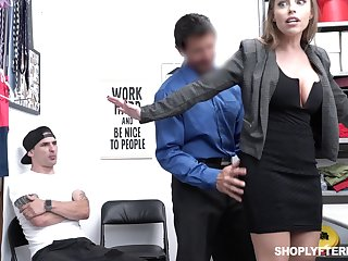 Office MILFie slut with nice curves Britney Amber factory on cock in the election