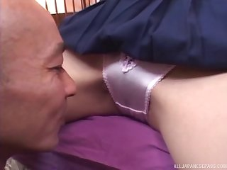 Amazing video be useful to a skinny Japanese darling having smooth sex