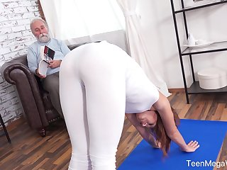 An old defy anent a kinky mind fucks his fit stepdaughter
