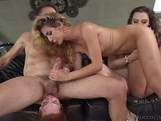 Hard animated anal carnal knowledge with two tight women