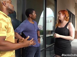 Curvaceous uninspiring milf Lauren Phillips is fucked by two hot blooded deadly guys