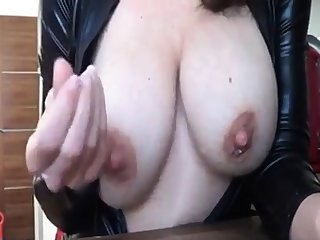Lactating girl teasing