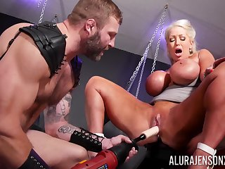 Rough BDSM pussy with the addition of anal for a chunky ass cougar on fire