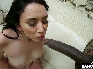 Closeup sheet of interracial sex with a facial ending for Mandy Muse