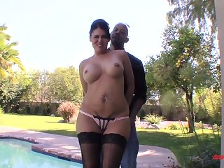 Olivia Needs Diesel - brunette mom with obese fake tits with regard to interracial hardcore