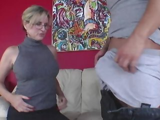Young man has set up oral action with older woman and stepdaughter