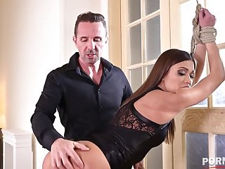 Submissive slut Alyssa Reece fated up and ass fucked by her BDSM master GP1270