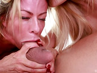 Horny Cherie Deville decides to share friend's hard penis concerning Alexis Fawx