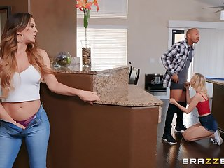 Lucky dude got out of breath close to a threesome by hot Cherie DeVille