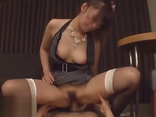 Japanese lord it over Milf squirts and fucks hard