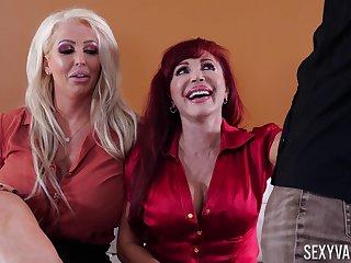 Mature pornstars shared wide of their husbands - Alura Jenson, Sexy Vanessa