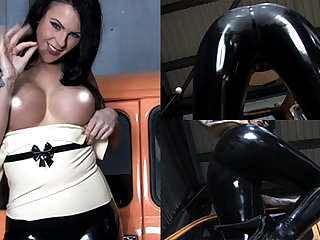 Emma Heron to White Top with an increment of Leggings - LatexHeavenVideo